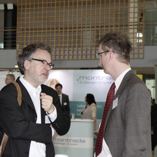 Uwe Metz (Deichmann) und Jochen Probst (C&A) im Pausengespräch