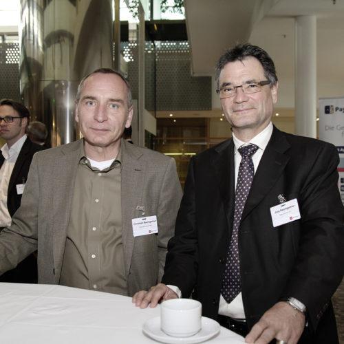 Teilnehmer aus der Schweiz: Christoph Baumgartner (Coop) und Jürg Baumgartner (Data Connect)