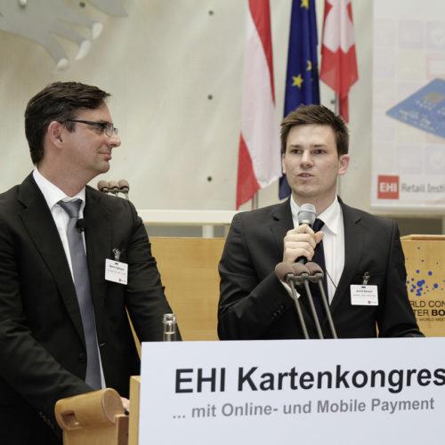 Topaktuelles Innovationsprojekt: Martin Dallmeier (dm) und Achim Bönsch (barzahlen.de)