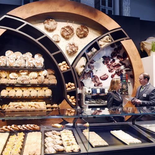 Die Bäckerei wird immer mehr zur modernen Snack-Station. (Foto: Nicolas Maack / Internorga)