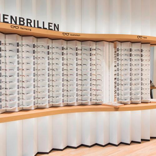 Die Brillenmodelle werden nach Damen- und Herrenbrillen sowie nach Form und Größe sortiert. (Foto: Mister Spex)