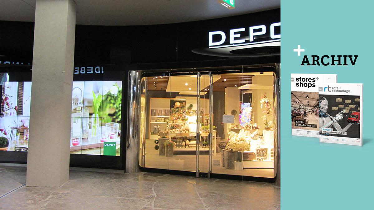Depot Nutzt Digital Signage Spezialanfertigung Storesshops