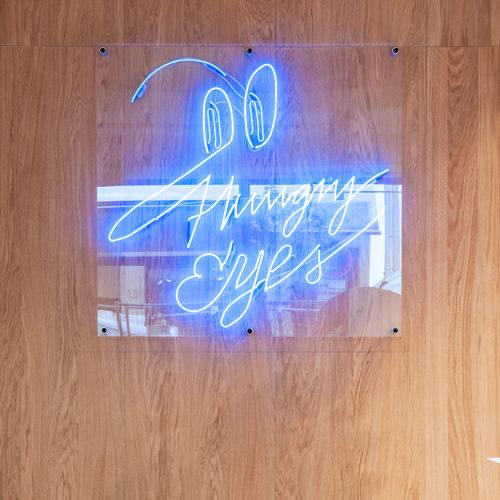 Eyecatcher: die Neon-Installation des Künstlers Daniel Angermann (Foto: Wouter van der Sar)