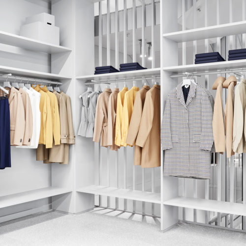 Purismus kennzeichnet das Storedesign. (Foto: H&M)