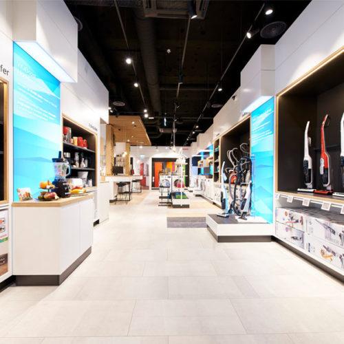 Digitales Equipment komplettiert die Markenwelt auf 400 qm. (Foto: Bosch)