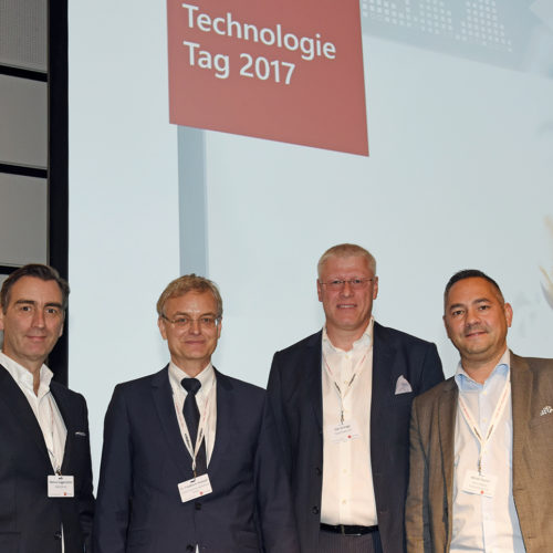CIO-Runde: Markus Guggenbühler (Manor), Dr. Friedhelm Rudolph (Poco), Olaf Schrage (Deichmann), Michael Feurich (Gerry Weber)