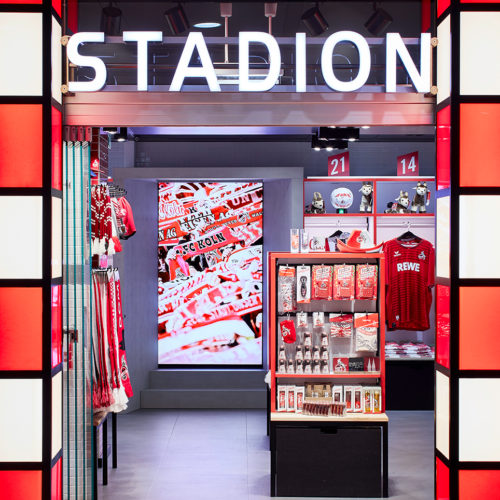 Im Dezember 2017 öffnete der Fanshop des 1. FC Kölns am Hauptbahnhof seine Pforten.