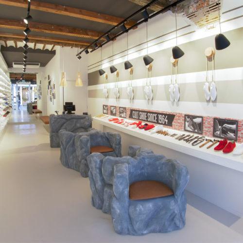Der Store soll der Sioux GmbH aus dem schwäbischen Walheim, die den Schuh auf den Markt bringt, als Vorbild für weitere Projekte dienen, die jedoch noch nicht genauer spezifiziert sind. (Foto: Grashopper)
