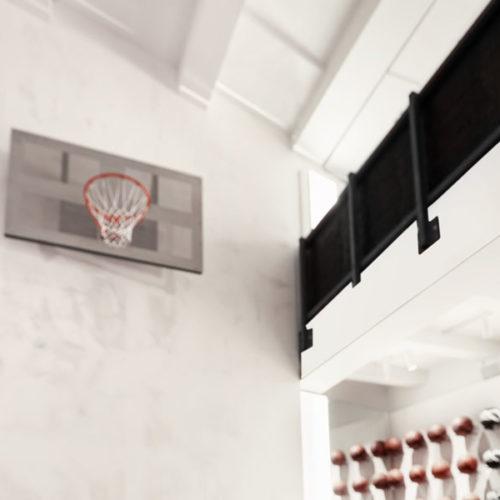 Um die für den Basket erforderliche Höhe zu gewinnen, musste ein Teil der Zwischendecke weichen. (Foto: Kickz)