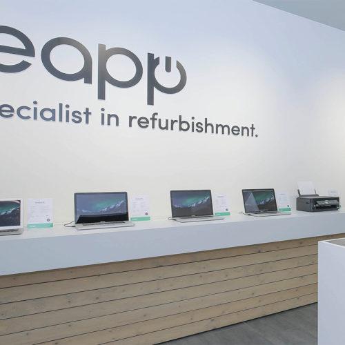 Leapp, niederländischer Spezialist für das Refurbishment von Apple-Geräten, nutzt eine zentrale Videoüberwachung aus der Cloud mit Mehrwert-Funktionen. (Foto: Leapp)
