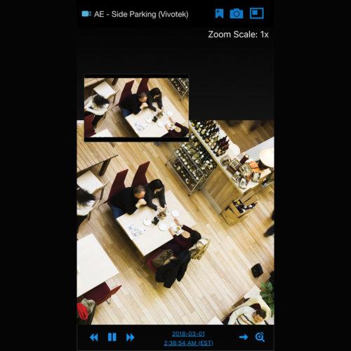 """Überwachung eines Restaurant-Bereichs mit dem System """"Stratocast"""" (Foto: Stratocast)"""