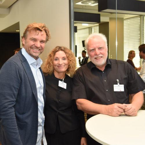 Wolfgang Gruschwitz (Gruschwitz GmbH) im Gespräch mit Claudia Böhm (Manor AG) und Willi Borkowski-Kania (World Warenhandels-GmbH)