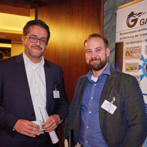 Von Edeka zu Edeka: Thomas Müller (Edeka MiHa Immobilien Service GmbH) und Daniel Strauch (Edeka Handelsgeschaft Rhein-Ruhr mBH)