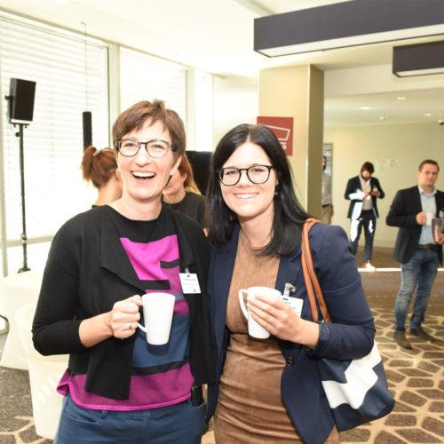 Zufriedene Teilnehmer: Christine Lentze und Marlene Draschwandtner (beide dm-Drogeriemarkt)