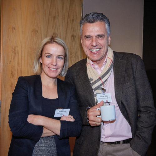 Gut gelaunt: Daniela Haus (Tengelmann Energie GmbH) und Thomas Müller (Dirk Rossmann GmbH)