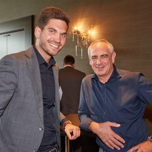 Zwei Lebensmittelhändler unter sich: Bernd Wilger (H. Wilger GmbH/E-Center Wilger) und Robert Schäfer (Rewe Schäfer oHG)