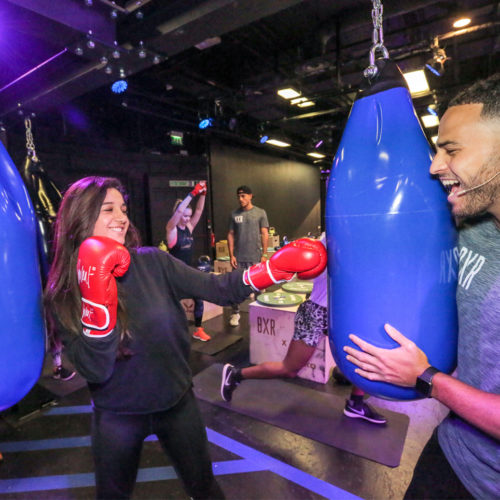 Die Kunden konnten Trainingsstunden im Boxring buchen. (Foto: Selfridges)