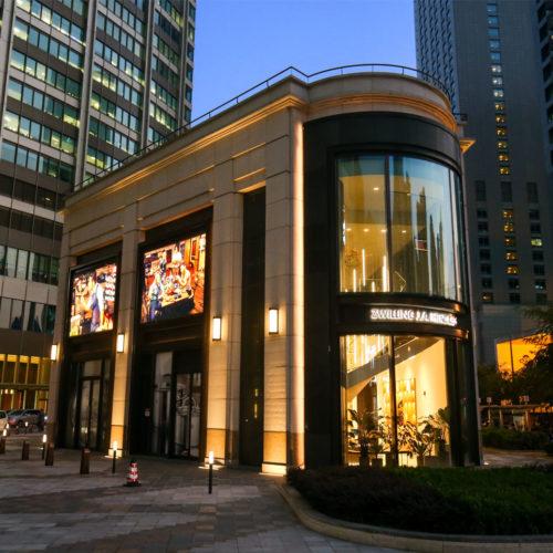 Die zweistöckige Fassade bei der Taikoo Hui Mall in Shanghai  (Foto: Zwilling)